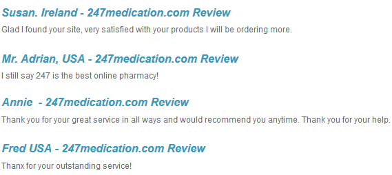 247 Medication Review from Customers